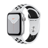 Apple Watch Nike Series 5 GPS 40mm, Silver Aluminum Case, Pure PlatinumBlack Nike Sport Band