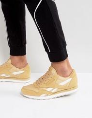 Reebok Classic Leather Nylon RS Sneakers In Tan BS 8270