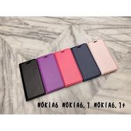 Nokia6 Nokia6.1 Nokia6.1plus 典雅 素面 隱型磁扣 可站立 皮套