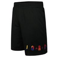 NIKE JORDAN 男裝 短褲 籃球 網布 彩色字母 透氣 黑 【運動世界】 AV0115-010