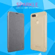 2017 NILLKIN OPPO R11S Plus NEW LEATHER CASE- Sparkle Leather Case Dec