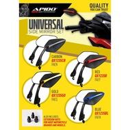Moto Accessories - Apido Universal Honda Yamaha Rs150r Lc135 Y15zr Vario Ex5 Wave Dash Side Mirror - [BLUE / CARBON / GOLD / RED]