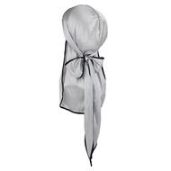 Yotijar Lelaki Wanita Cap Hip Hop Headscarf Rag Durag Panjang Tie Down Tail Hat Headwrap Topi Biker