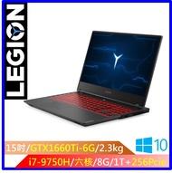 LENOVO Legion Y7000SE 15.6吋筆電(i7-9750H/GTX1660TI/8GD4/256G+1T) Legion Y7000_ 81NS000XTW送遊戲兌換卡乙張