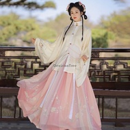 2021 chinese traditional women hanfu gowns retro ming suit chinese cosplay ancient oriental performance costume oriental hanfu