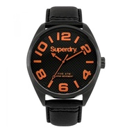 Superdry Military SYG192BRA Analog Quartz Black Leather Mens Watch
