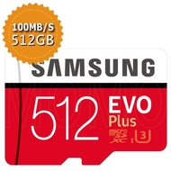 【SAMSUNG 三星】EVO PLUS microSDXC 512GB U3 100MB/s記憶卡(平行輸入)