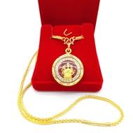สร้อยคอทอง ลายมาลัย 2สลึง ยาว18นิ้ว พร้อม จี้พระ จี้ พระแม่กวนอิมพันกรล้อมเพชร ชุบเศษทองเยาวราช ชุบทอง100% งานฝีมือจากช่างเยาวราช แถมฟรีตลับใส่ทอง