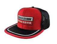 USA Vintage Trucker Cap Bridgestone Firestone Red Black