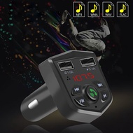 Bluetooth 5.0 Car Kit Dual USB FM Transmitter Handsfree Multifunctional Universal Quick Charge Wireless MP3 Player