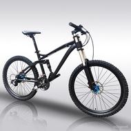Kalosse Full suspension   new cycling mountain bike   26er mountain bicycle   woman bike   27 speed  Hydraulic brakes