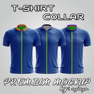 MOCKUP/ TEMPLATE/ DESIGN/ GRAPHIC/ ART/ PS - PREMIUM T-SHIRT COLLAR MOCKUP