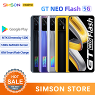 """realme GT Neo/GT Neo Flash 5G Mobile Phone 6/8/12G RAM 6.43""""120Hz Super AMOLED Dimensity 1200 Octa Core 50W Fast Charge 64MP WIFI 6 NFC"""