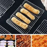 長方形不銹鋼燒烤網架小號麵包涼網濾油網片烘焙帶腳濾水架隔油網