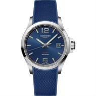 LONGINES 浪琴錶 L37264969 征服者系列 Conquest VHP 時尚機械腕錶/藍面 43mm