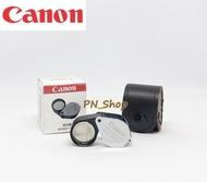 Canon Full HD 10x18mm กล้องส่องพระ /ส่องจิวเวอรรี่ เลนส์แก้วเคลือบมัลติโค๊ตตัดแสง บอดี๊ สีเงิน ฟรีซองหนัง