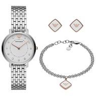 Emporio Armani AR80023 Analog Quartz Silver Stainless Steel Women Watch [Pre-Order]
