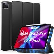 【日本代購】Ztotop iPad Pro 12.9 Case 2020 四代磁吸附超薄和輕便 Pencil 2 三折支架自動睡眠 保護殼 黑色