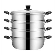 蒸鍋 不銹鋼蒸鍋家用小2層饅頭蒸籠煮大號魚鍋非304電磁爐煤氣灶專用