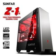順發 SUNFAR Z1 電腦機殼 3小 ATX/Micro ATX 附3個風扇 太空灰色