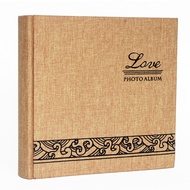 Linen Canvas Inset Album 6 inch photos (4R photos) can be put in 200,Record Lovers' Photo Album Inner Page Is Left to Record the Relevant Text