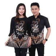 kantor kancing sogan padi blouse motif batik wanita atasan baju