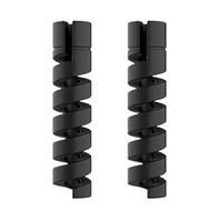 2 ชิ้นชาร์จCable Protector WinderสายไฟSaverสำหรับApple iPhone USBสายเคเบิลเกลียวUSBแขนป้องกัน