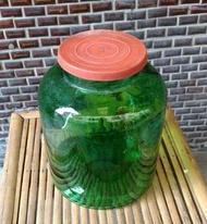氣泡綠玻璃甕(罐)—古物舊貨、早期玻璃製品收藏