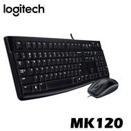 Logitech 羅技 MK120 USB 有線鍵鼠組 鍵盤 滑鼠 防濺灑 辦公 文書 注音鍵盤 Logitech