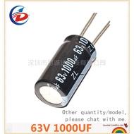 1PCS 63V 1000UF 63V1000UF 1000UF63V 16*25 Electrolytic capacitor 63v 1000UF Aluminum electrolytic capacitors
