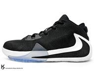 [23.5cm] 2019 最新款 Giannis Antetokounmpo 首款簽名籃球鞋 NIKE FREAK 1 GS 大童鞋 女鞋 黑白 字母哥 MVP 公鹿隊 (BQ5633-001) !