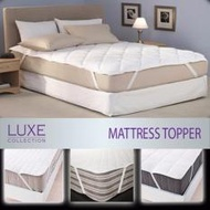 Mattress Pad - Quilted Mattress Topper - 3 Sizes Single SuperSingle Queen