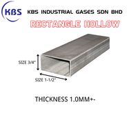 "MILD STEEL (BESI) RECTANGLE HOLLOW (TEBAL 1.0MM+- ) (SIZE 3/4"" X 1-1/2"")"