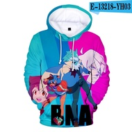 Hoodies Men Anime New Animal Hoodie 3d Pullover Long Sleeve/clothing