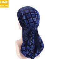 Retro Three-Dimensional Hot Pressing Flannel Long Tail Pirate Hat Hip Hop Long Streamer Cloak Toque Male Velvet Durag