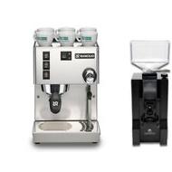 Rancilio Silvia V6 Coffee Machine & Eureka Mignon Manuale Espresso Combo Set