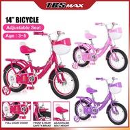 "Basikal Saiz 14 Inci / 14"" Bicycle / 14 Inch Basikal Budak Perempuan / Basikal Kanak2 tayar Hidup / Untuk Umur 3-5 Tahun"