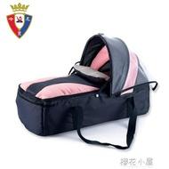哈尼貝新生嬰兒便攜式提籃超輕可收納寶寶兒童手提童床帶紋帳睡籃QM『櫻花小屋』