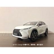 W.H.Garage_凌志 LEXUS NX200T NX Fsport 1:18 合金汽車模型 原廠模型 現貨