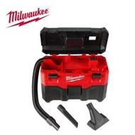 【Milwaukee 美沃奇】18V鋰電乾濕兩用吸塵器-M18 VC2-0 原廠公司貨(無電池充電器)