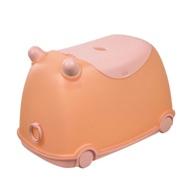 樹德 livinbox 牛BUBU玩具收納車-粉紅豬