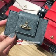 英國代購 Vivienne Westwood 星球LOGO荔枝紋皮革卡片夾卡包卡袋