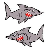 現貨摩托車汽車越野車踏板車福喜禧RSZ鬼火改裝個性鯊魚K1貼紙防水強熱賣商品熱賣商品