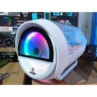 GAMEKM Genki Bomb Gaming Case USB 3.0 Water-cooled Desktop Computer Case(White)