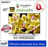 Sony  49  4K HDR Andriod TV KD-49X8000G  รุ่นปี 2019
