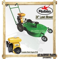 "Mesin Rumput 24"" Mesin Tolak 24"" Lawn Mower Original Petrol Robin Engine Ey20 Heavy Duty Engine 24"" Lawn Mower"