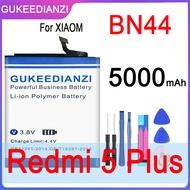 BN44 Mobile Phone High Capacity Battery For Xiaomi Redmi 5 Plus Real Capacity 5000mAh Replacement Li-ion Battery+Free Tool