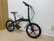 Cruzer Bespoke, Zoom Hydraulic Brake system, Shimano Altus gear system, 9 Speed, Magnesium sports rim, Promend Pedal and Promend Grip, Similar to Camp gold and Crius Velocity