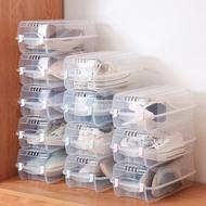 Fasola 3 ชิ้นที่เรียบง่ายใสกล่องรองเท้าหนาพลาสติกที่เรียบง่ายครัวเรือนรวมกันฟรีผู้ชายรองเท้า Organizer กรณีชั้นวางรองเท้ากล่องเก็บ