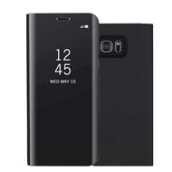 現貨三星Note5 Note4 Note8 全透視皮套 鏡面 電鍍 智能 休眠 硬殼 手機殼 手機套 立式帶支架商務